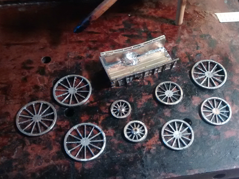 Wagon body and wheels